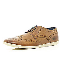 Tan Base rubber sole brogues