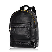 Black MiPac Gold faux croc base backpack