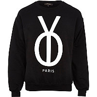 Black YO Paris print sweatshirt