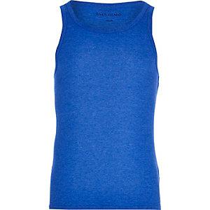 Blue marl vest