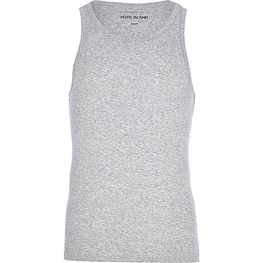 Grey marl vest