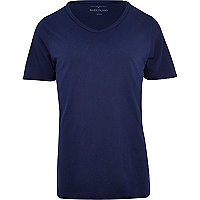 Blue low scoop t-shirt