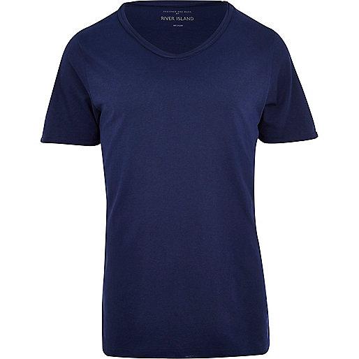 Blue low scoop t-shirt