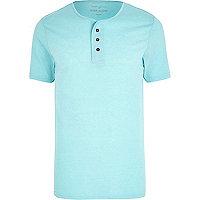 Turquoise marl grandad t-shirt