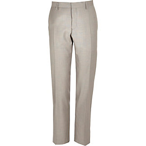 Stone slim suit trousers