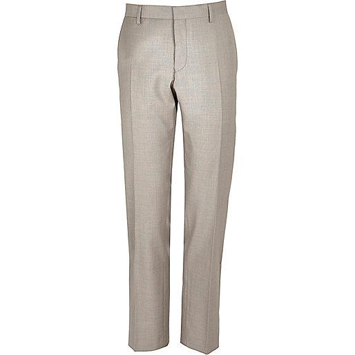 Stone slim suit pants