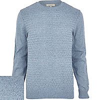 Light blue honeycomb texture jumper