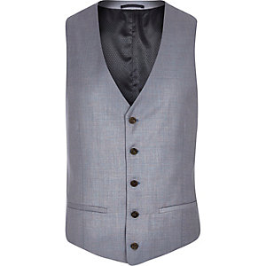 Lilac single breasted vest