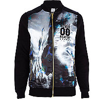 Black Beck & Hersey abstract bomber jacket