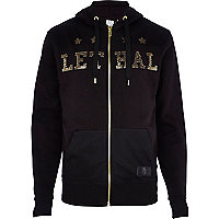 Black Beck & Hersey Lethal zip through hoodie