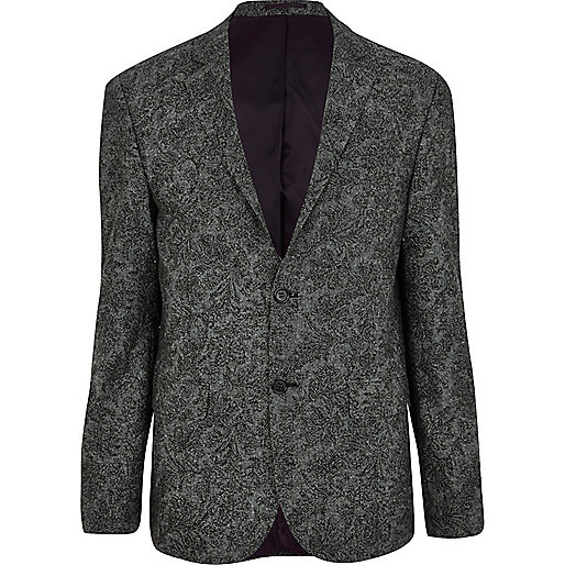 Grey paisley blazer