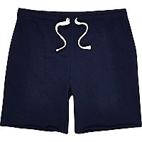 Navy basic drawstring shorts
