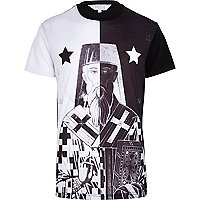 Black and white Systvm Jute t-shirt