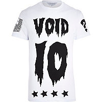 White Systvm void 10 print t-shirt