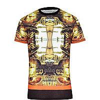 Black Systvm renaissance print t-shirt