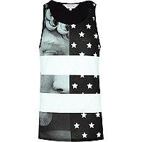 Black Systvm statue and stars print vest