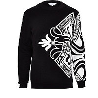 Black Systvm abstract print sweatshirt