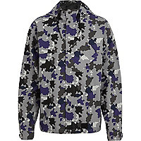 Grey Boxfresh camouflage hooded jacket