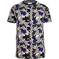 Grey Boxfresh graphic camo print t-shirt