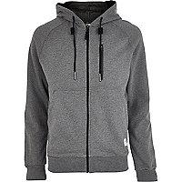 Grey marl Boxfresh zip through hoodie