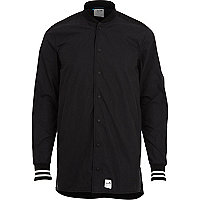 Black Boxfresh popper fastened shirt