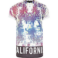 Purple California hem print t-shirt