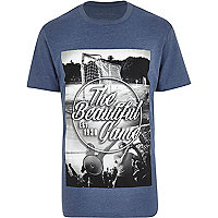 Blue the beautiful game print t-shirt