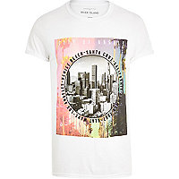 White Santa Cruz print t-shirt