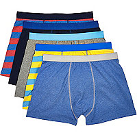 Blue mixed boxer shorts pack