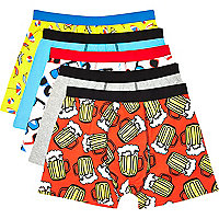 Mixed print boxer shorts pack