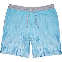 Turquoise mesh sports shorts