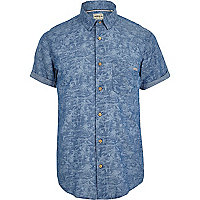 Blue Jack & Jones Vintage palm tree shirt
