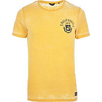 Yellow Jack & Jones Vintage burnout t-shirt