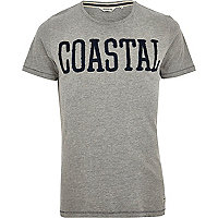 Grey Jack & Jones Vintage coastal t-shirt