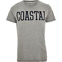 Grey Jack & Jones Vintage coastal t-shirt
