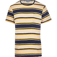 Navy Jack & Jones Vintage zig zag t-shirt