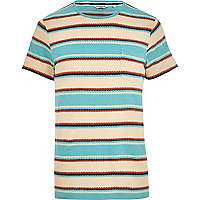 Blue Jack & Jones Vintage zig zag t-shirt