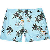 Blue Jack & Jones Vintage palm tree shorts