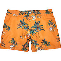 Orange Jack & Jones Vintage palm tree shorts