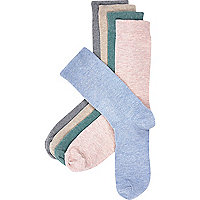 Blue mixed marl socks pack