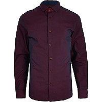 Dark red two tone shirt