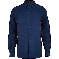 Midnight blue long sleeve shirt