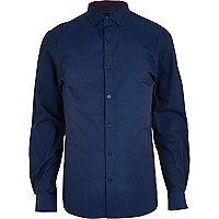 Midnight blue long sleeve shirt