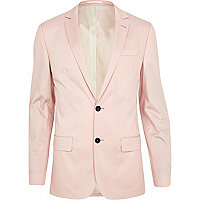 Pale pink slim suit jacket