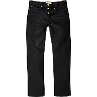 Dean – Schwarze gerade geschnittene Jeans