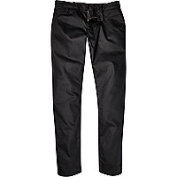 Black Systvm coated slim jeans