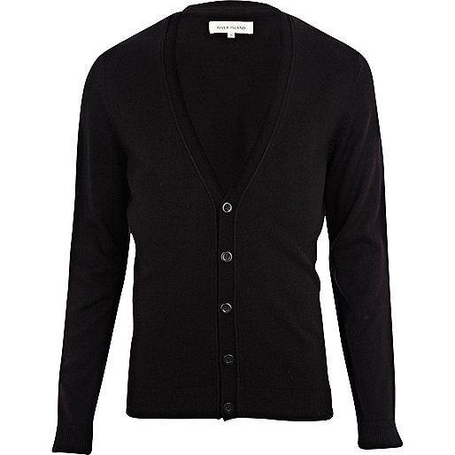 Black V neck cardigan