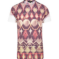 Brown tribal print t-shirt