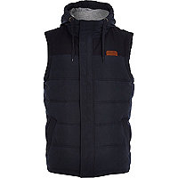 Navy padded casual gilet