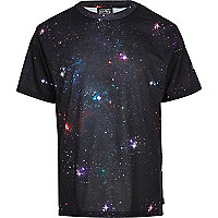 Black New Love Club galaxy print t-shirt
